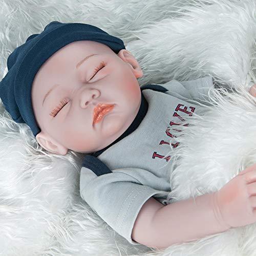 Per Newly Lifelike Reborn Baby Doll 52cm Lifelike Soft Silicone Realistic Vinyl Newborn Baby Toy Doll for Ages 3