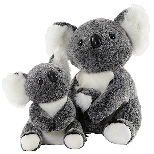 BESTLEE Realistic Two Koala Plush Stuffed Animal Toys 5Inch and 6 Inch