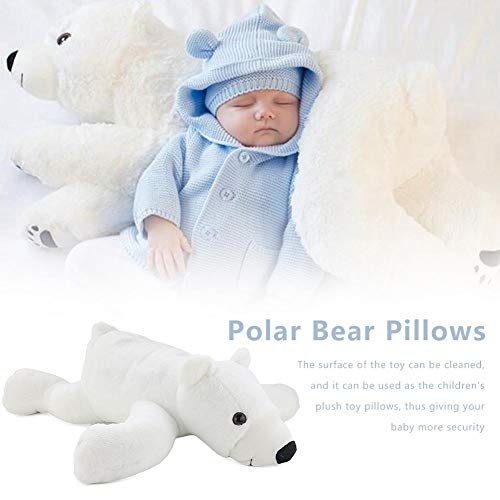 Polar Bear Plush Doll Soft Lightweight Plush Polar Bear Stuffed Toy Children Plush Toy Kids Babies Polar Bear Plush Toy Kids Toddler Bed Time Decorative Cushion