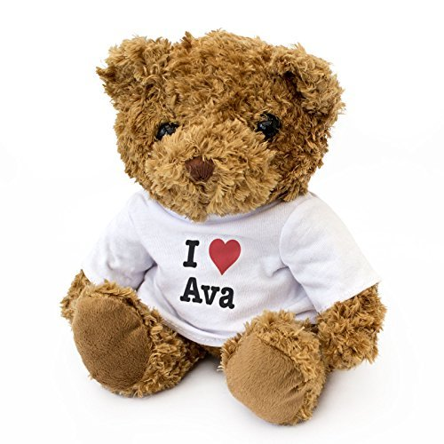 NEW - I LOVE AVA - Teddy Bear - Cute And Cuddly - Gift Present Birthday Xmas Valentine