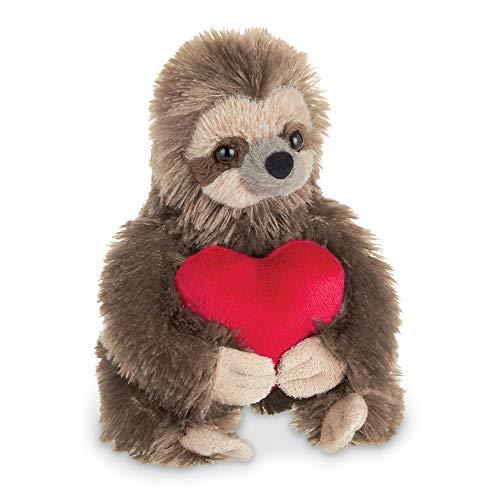 Bearington Lil Simon Love Valentines Plush Sloth Stuffed Animal with Heart 65 Inches