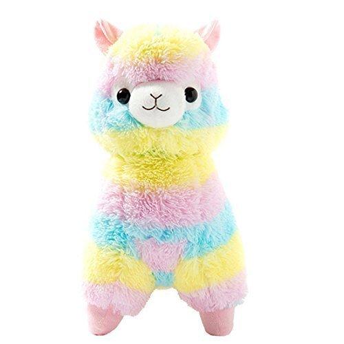 Cuddly Llama Rainbow Alpaca Doll 7 Soft Baby Stuffed Animal Toy Valentines Day Birthday Xmas Christmas Wedding Anniversary Presents Gifts