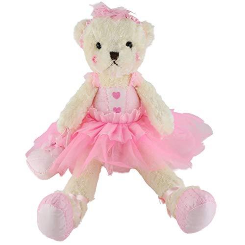 Wewill Ballerina Teddy Bear Stuffed Animals Cute Soft Toy Plush Creative Doll Birthday Christmas Valentine Gift 23-InchPink