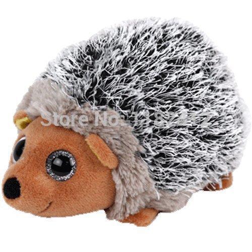 New TY Plush Animal Beanie Boos Stuffed Animals Spike - Brown Hedgehog 15cm6 Ty Big Eyes Soft Toys for Children Kids Gifts