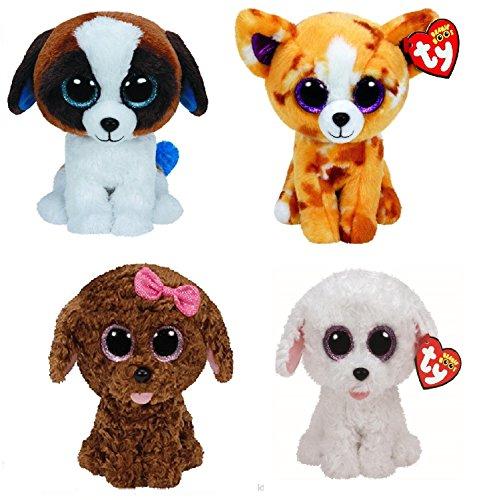 Ty Maddie Pippie Duke Pablo Dogs Set of 4 Beanie Boos Stuffed Animal Plush Toy