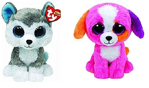 Ty Slush and Precious Dogs Set of 2 Beanie Boos Stuffed Animal Plush Toy