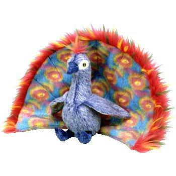 Ty Beanie Baby Plush  Peacock  Flashy