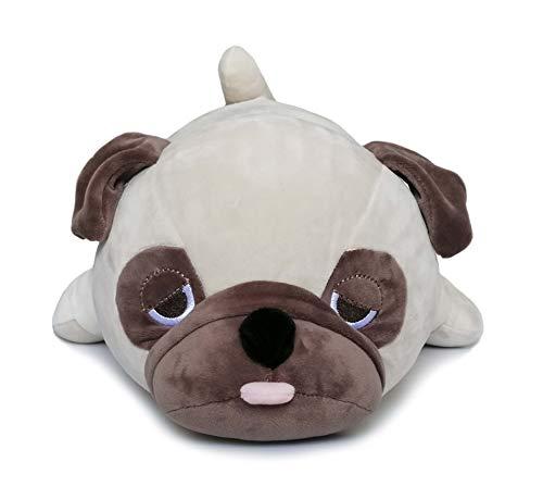 HOUSN Plush Stuffed AnimalsCute Pug Plush Throw Pillow for Girls Boys Kids Brown 26inch