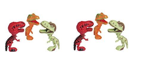 6 Assorted Big Mouth Dinosaurs ~ 5 Fun Prehistoric DINO TREX Toys ~ Christmas Santa Toys ~ Stocking Stuffer ~ Teacher Educational ~