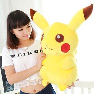 138 Pokemon Pikachu Plush Toy Soft Stuffed Doll Pocket Monster Kids Huge Gift