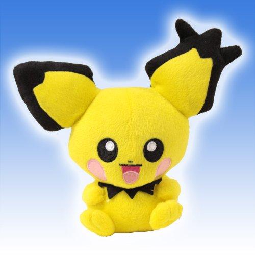 Pokemon Pichu Pikachu Plush Toy 8 Spiky-eared Gizamimi Doll