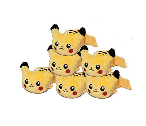 Pokemon Pikachu Plush Toy Clip On Set Of 6