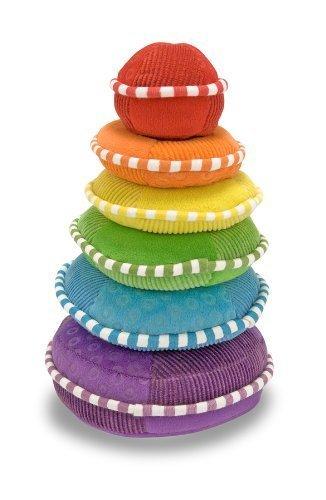 Melissa Doug Plush Rainbow Stacker by Melissa Doug