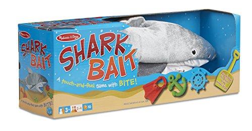 Melissa Doug Shark Bait Game With Zippered Plush Shark