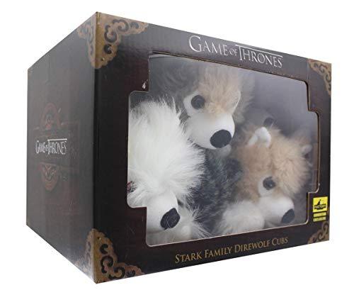 Factory Entertainment Game of Thrones Direwolf Cub Plush Box Set Standard