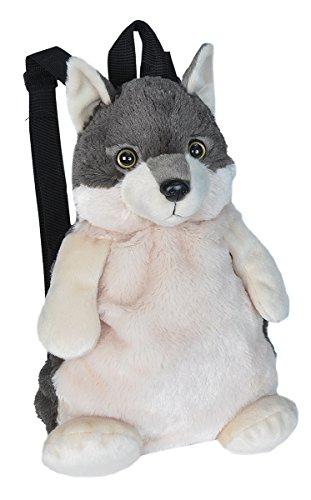 Wild Republic Wolf Backpack Mini Backpack Animal Bag Kids Gifts Plush Zoo Animal 14 Inches