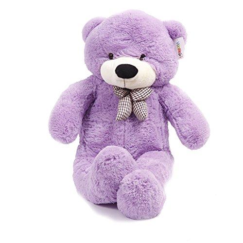 YunNaSi Giant 47 Baby Cuddly Plush Teddy Bear 5 Colors Big Stuffed Animal Toy 120cm Purple Bear