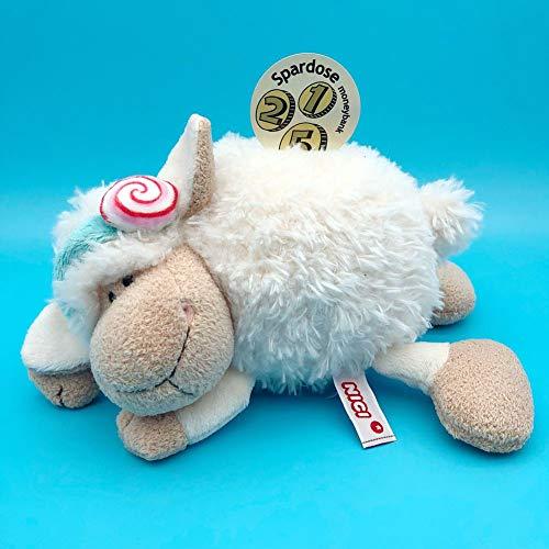 GE&YOBBY Animal Piggy BankCartoon Polyester Coin Bank Adorable Sheep Plush Toy for Kids Birthday Gift-a