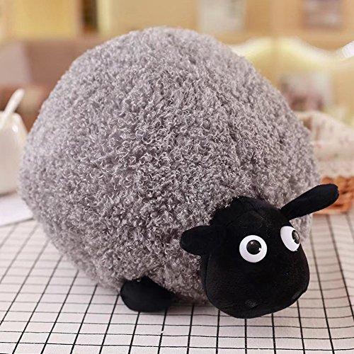 Studyset Cute Cartoon Sheep Plush Toys Soft Comfortable Cushion Pillow Home Decoration as Gray 35CM