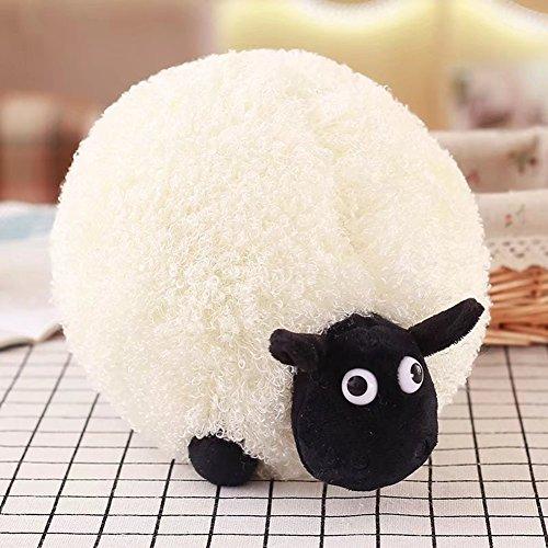 Studyset Cute Cartoon Sheep Plush Toys Soft Comfortable Cushion Pillow Home Decoration as White 25CM