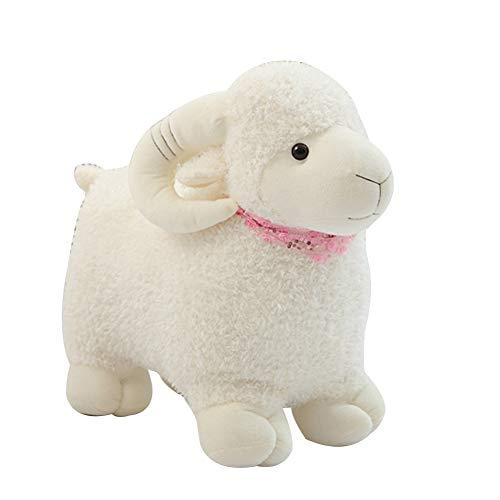 xmke96 Sheep Plush Toys Cute Plush Stuffed Doll Children Gifts Family Sofa Bed Decoration Pillow White 25cm