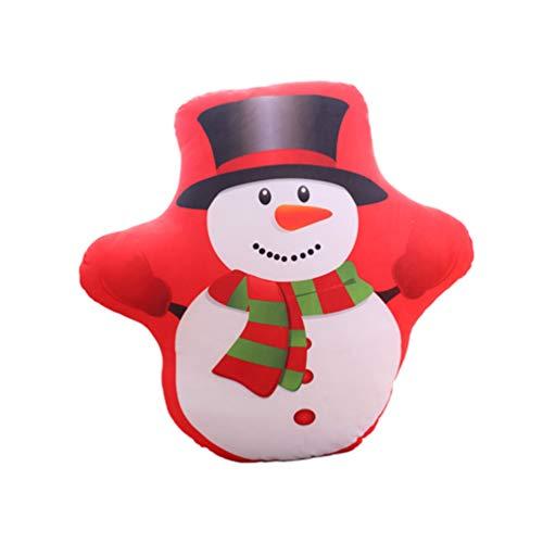Amosfun Snowman Plush Toy Christmas Stuffed Animal Figure 15cm Soft Throw Pillow for Home Sofa Christmas Decorations 2PCS