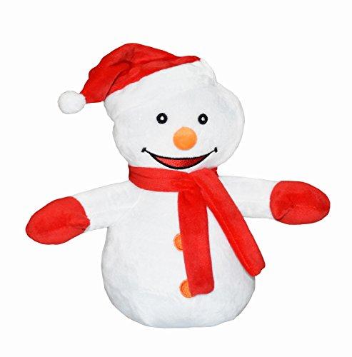 HOSBY Kawaii 12 Inch Stuffed Soft Christmas Snowman Plush Toy Doll Kids Gift