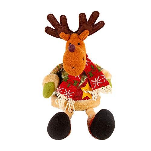 Joykith Santa Claus Elk Snowman Plush Toy Stuffed Animal Xmas Gift