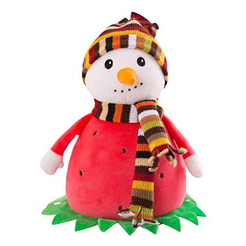 Juesi Snowman Plush Toy Funny Pineapple Snowman Strawberry Snowman Stuffed Animal Christmas Snowman Plush Toy Home Decor Holiday Doll Ornament 78inch RD
