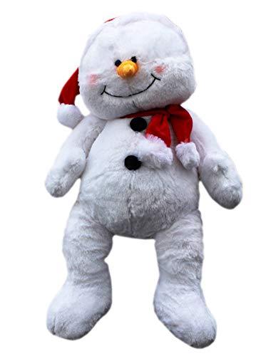 PLUSH TOY Snowden The Santa Hat Wearing Snowman Jumbo by Ganz 21in