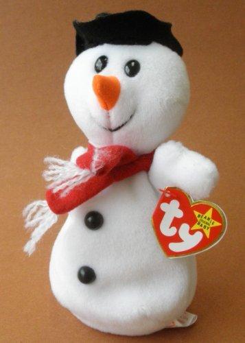 TY Beanie Babies Snowball the Snowman Plush Toy Stuffed Animal