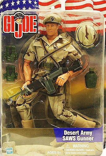 Hasbro GI Joe Desert Army SAWS Gunner 12 Inch Action Figure