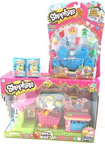 Bundle - 4 Items Shopkins Supermarket Playset Shopkins 12 Pack 2 2 Shopkins Basket