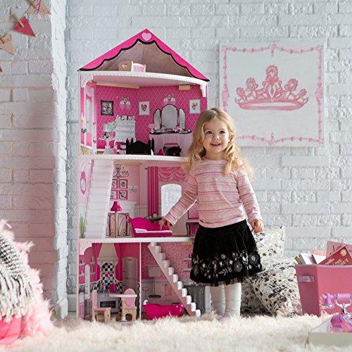 KidKraft Think Pink Corner Doll House Playset