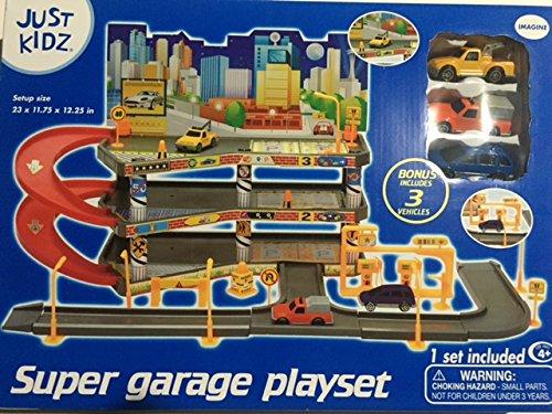 Just Kidz Super Garage Playset with 3 cars
