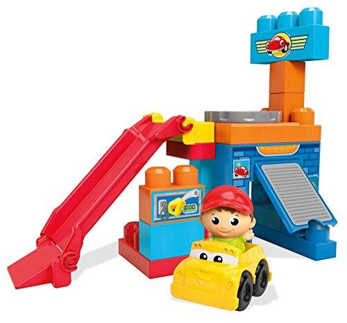 Mega Bloks Spin n Play Spinning Garage Playset