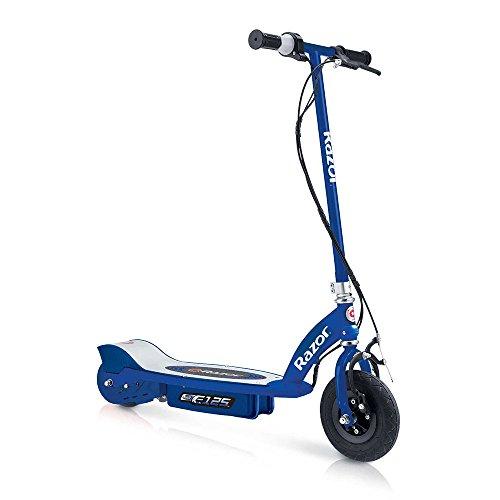 Razor E125 Motorized 24-Volt 10 MPH Rechargeable Kids Electric Scooter Blue