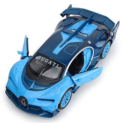 Model Car Sport Scale 132 Bugatti GT Alloy Diecast Car Model Toy Pull Back Sound&Light Blue