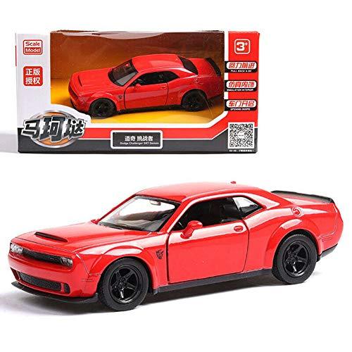 Model Car Sport Scale 136 Dodge Challenger SRT Demon Alloy Diecast Car Model No Sound Light Toy Red