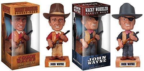 Funko JOHN WAYNE 6 CLASSIC TRUE GRIT MOVIE WACKY WOBBLER BOBBLEHEAD SET OF 2