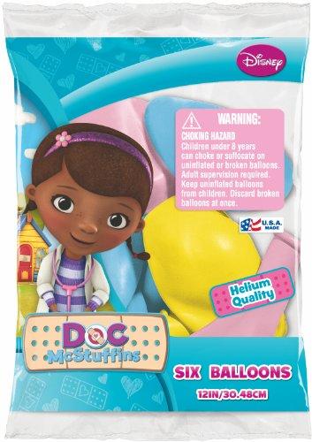 Disney Doc Mc Stuffins Latex 12 Balloons - Package of 12
