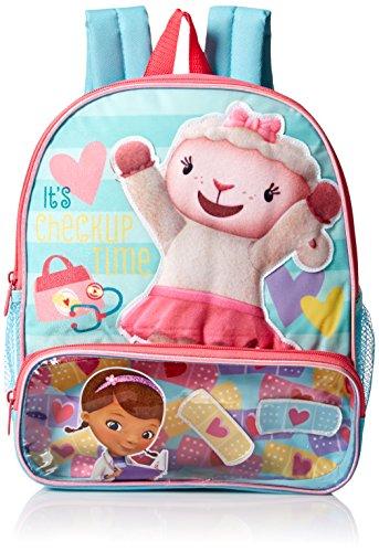 Disney Girls Doc Mcstuffins 12 Toddler Backpack Blue