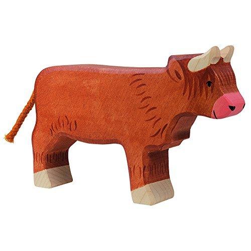 Holztiger Scottish Highland Cattle Standing Toy Figure by Holztiger