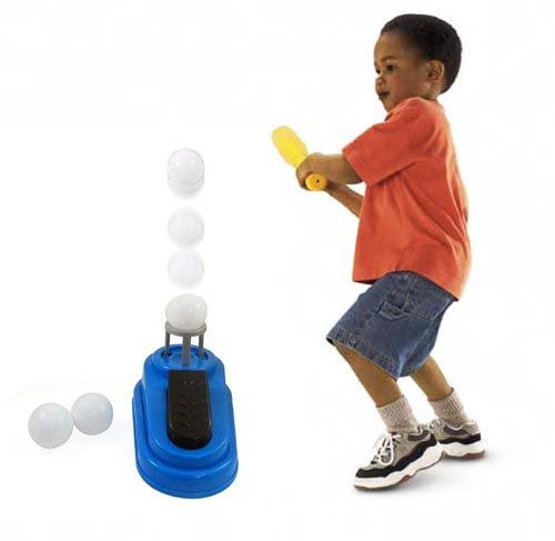 Pop and Play Baseball Pitching Machine Hit Aid Pop-up Trainer Kids Bat Ball Set