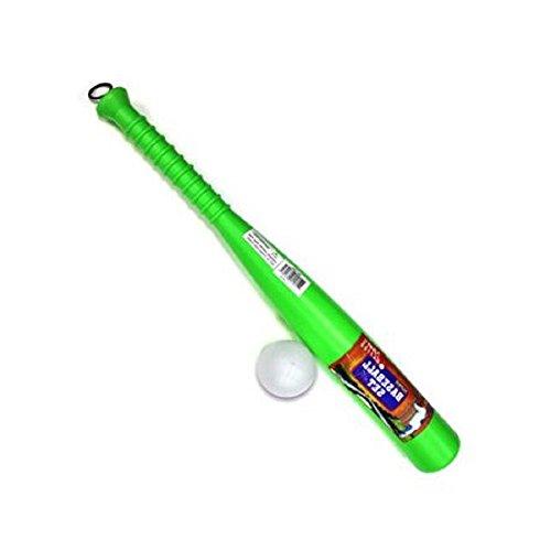 Toy Baeball Bat and Ball Set Great For Beginners Neon Green IndoorOutdoor