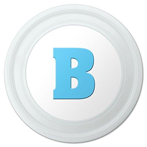 Letter B Initial Baby Boy Block Font Blue Shower Novelty 9 Flying Disc