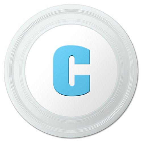 Letter C Initial Baby Boy Block Font Blue Shower Novelty 9 Flying Disc