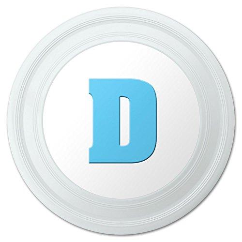 Letter D Initial Baby Boy Block Font Blue Shower Novelty 9 Flying Disc