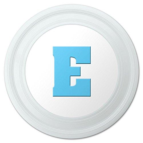 Letter E Initial Baby Boy Block Font Blue Shower Novelty 9 Flying Disc