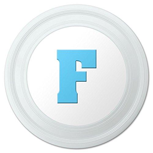 Letter F Initial Baby Boy Block Font Blue Shower Novelty 9 Flying Disc